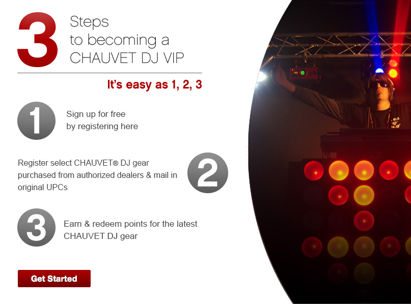 3 Steps to becoming a CHAUVET DJ VIP